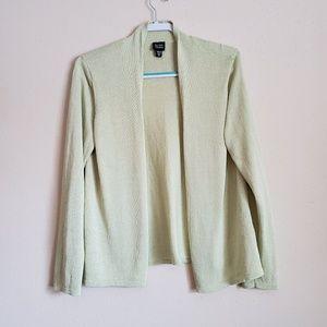 Eileen Fisher Moss Green Cardigan Size Medium